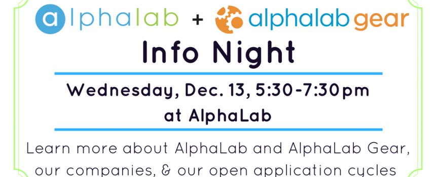 AlphaLab + Gear Info Night